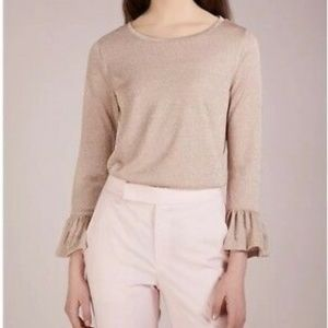 J. Crew Blush Sparkle Bell Sleeves, XS